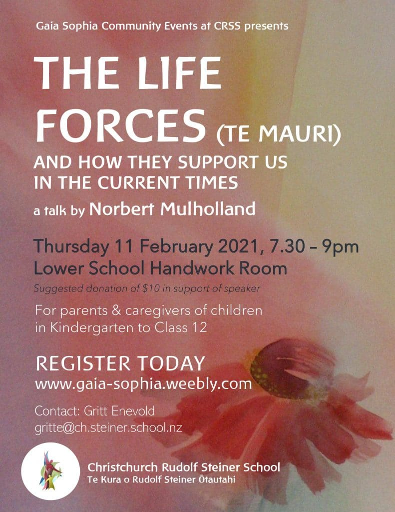 The Life Forces talk poster